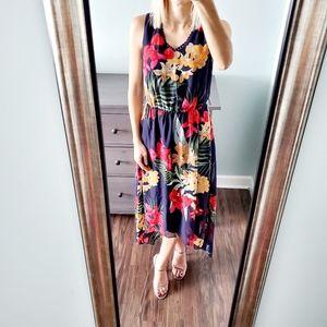 NWOT Apt. 9 Blue Floral Print High Low Dress